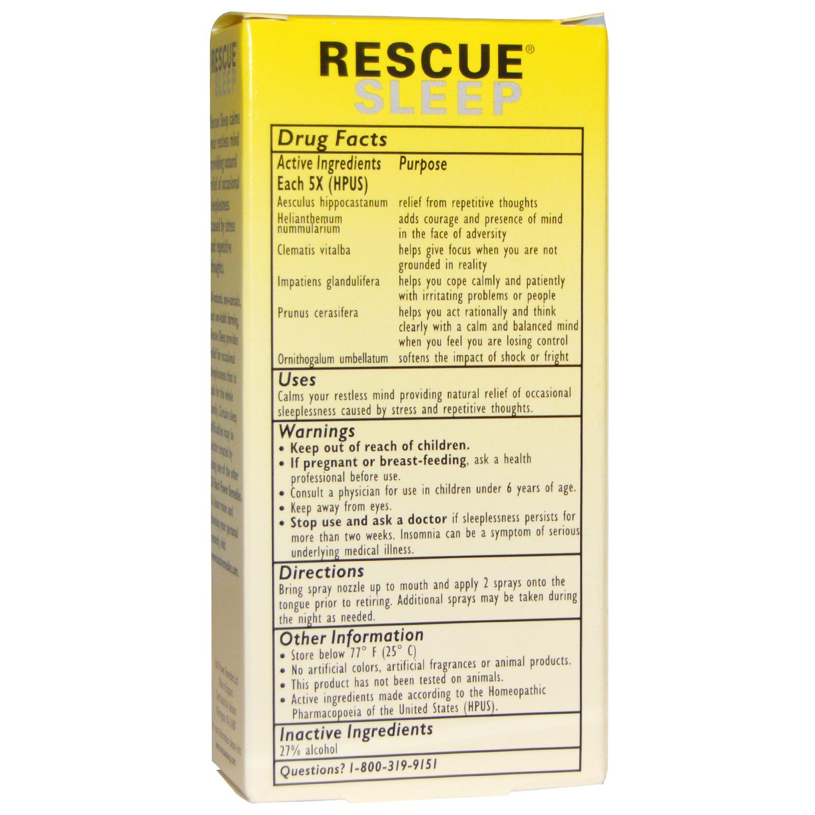 rescue remedy sleep drops review