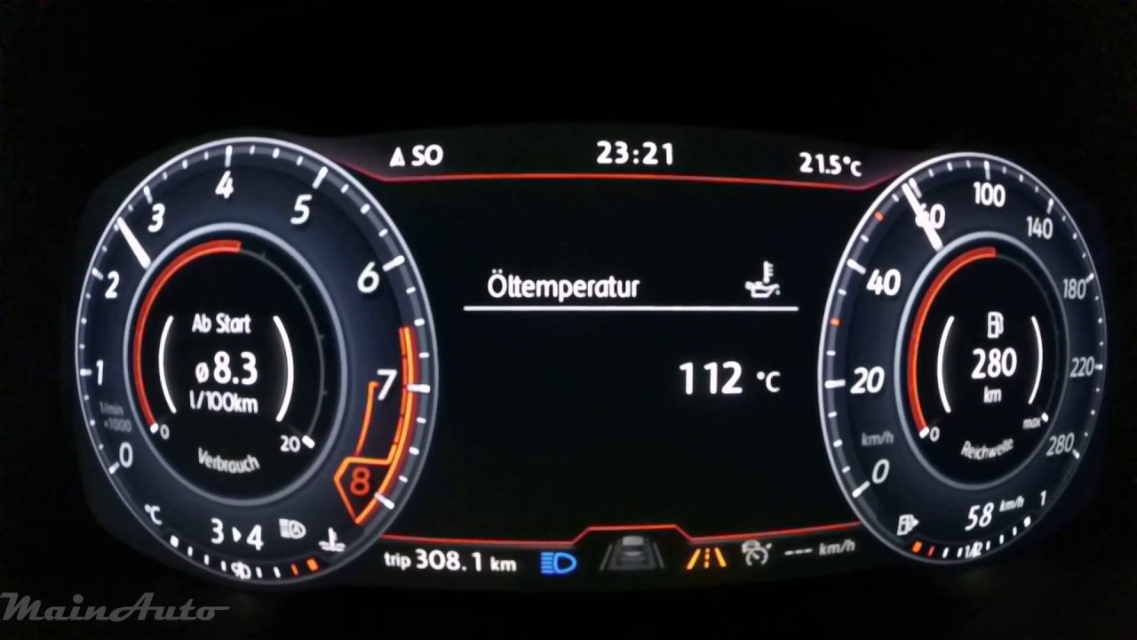 vw golf active info display review