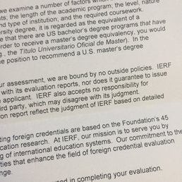 foundation for international services reviews