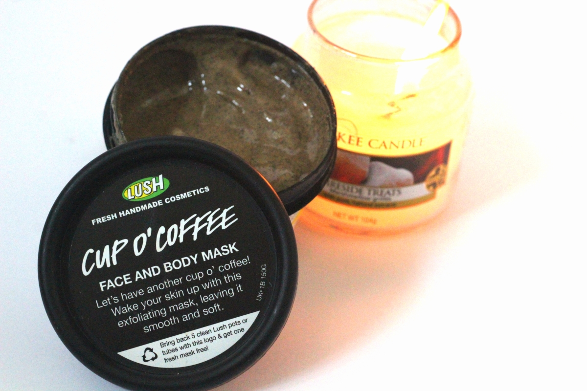 cup of coffee face mask lush review
