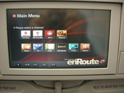 air canada inflight entertainment review