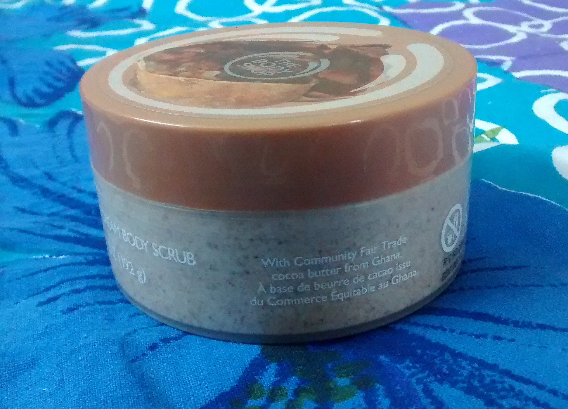 body shop cocoa butter body scrub review