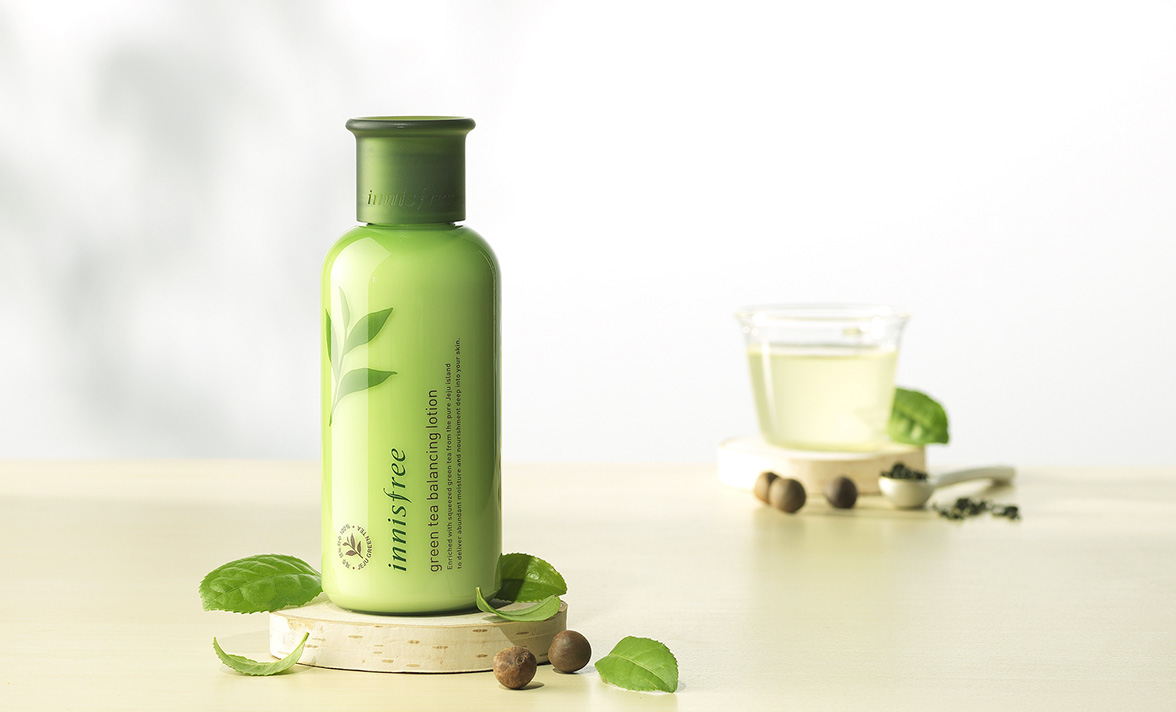 innisfree green tea pure lotion review
