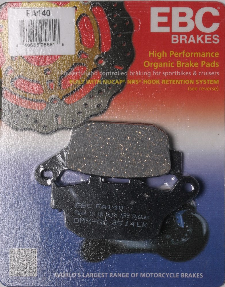 ebc organic brake pads review