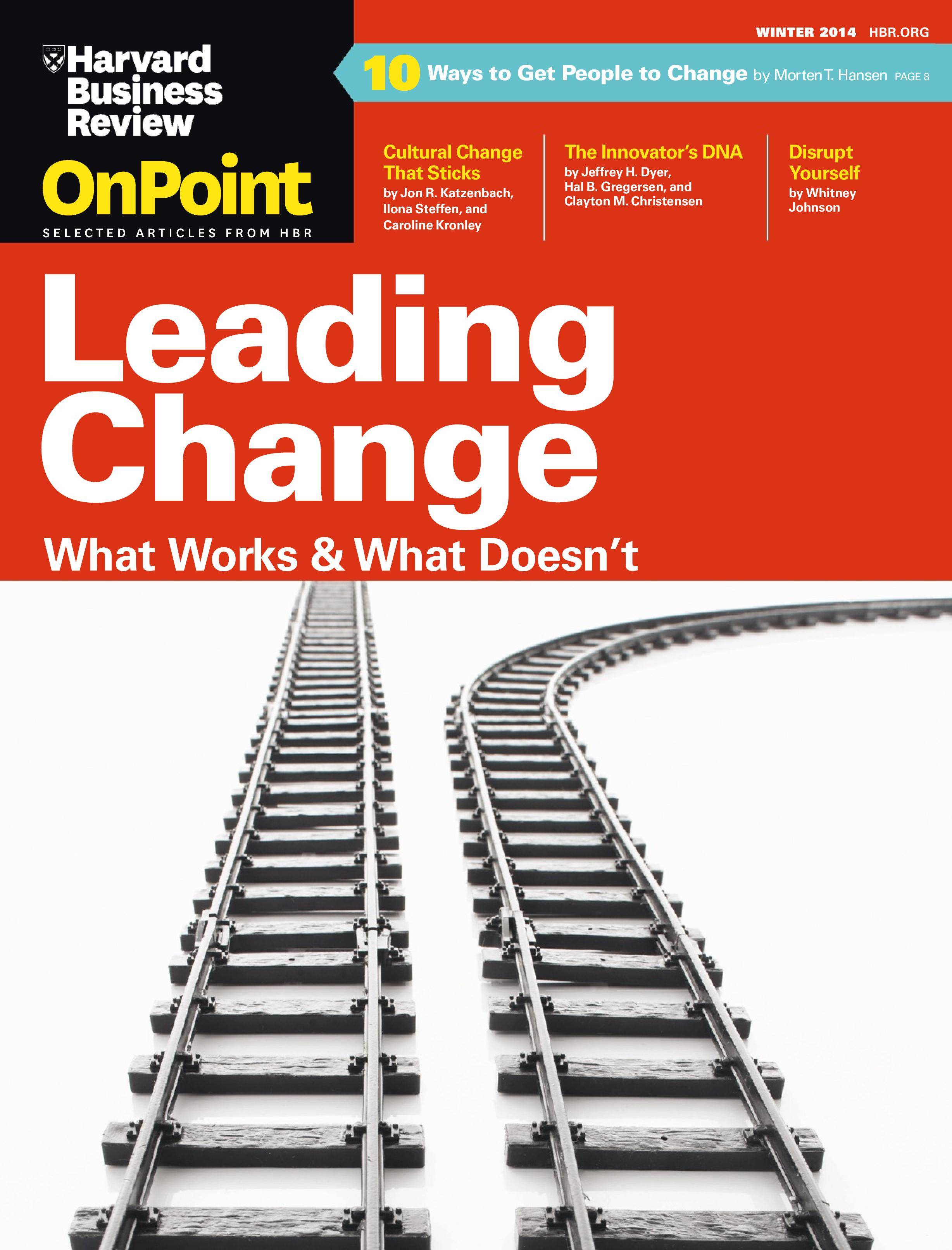harvard business review onpoint pdf