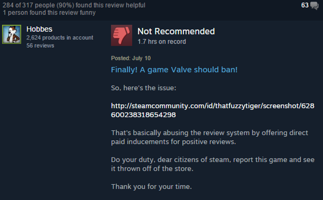 how to review a game on steam