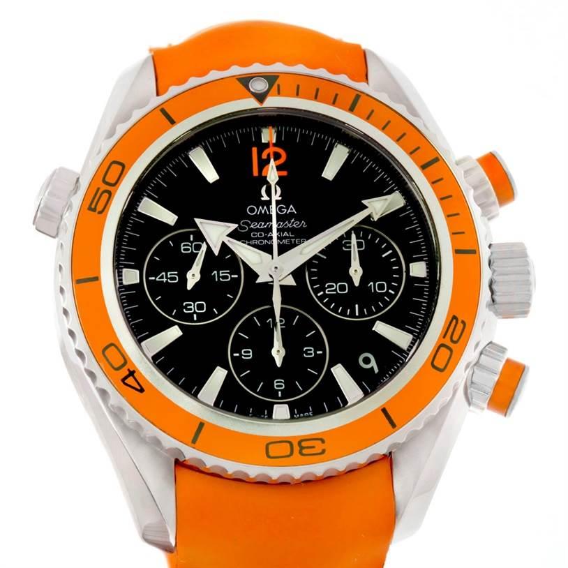 omega planet ocean orange bezel review