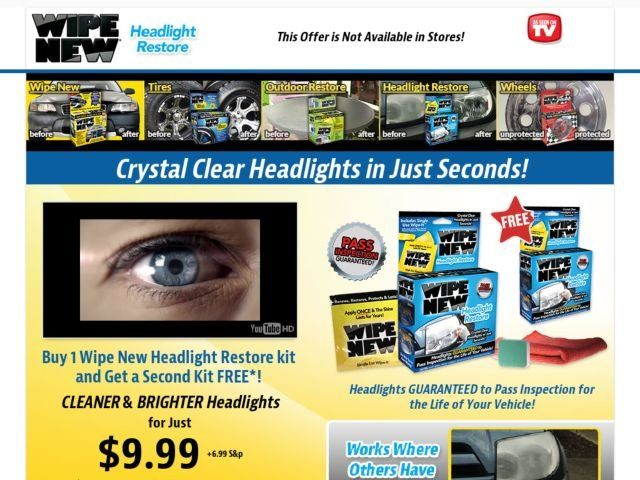 wipe new headlight restore reviews