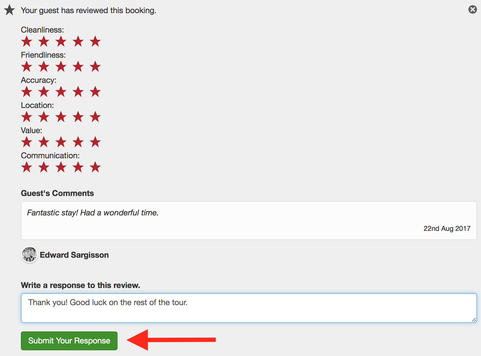 how to write a guest review