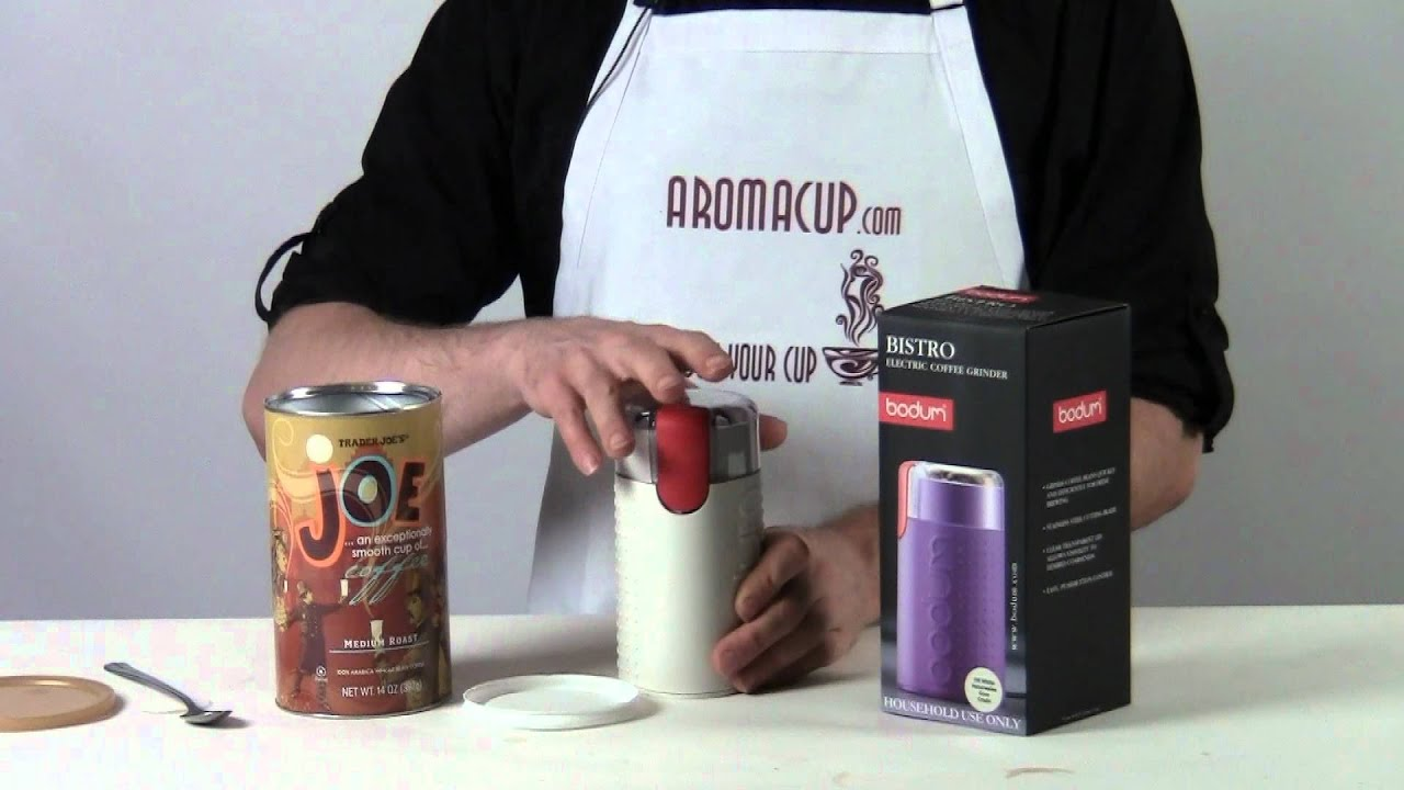 bodum bistro blade coffee grinder review
