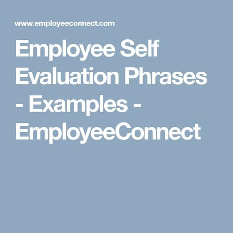 self performance review phrases examples
