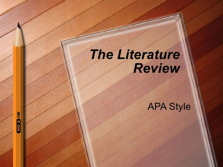 apa literature review template 6th edition