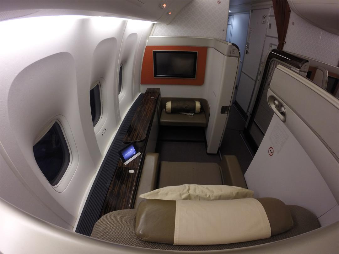 first class garuda indonesia review