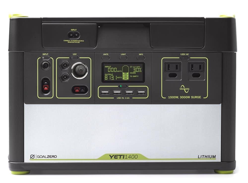 goal zero yeti 1400 lithium review