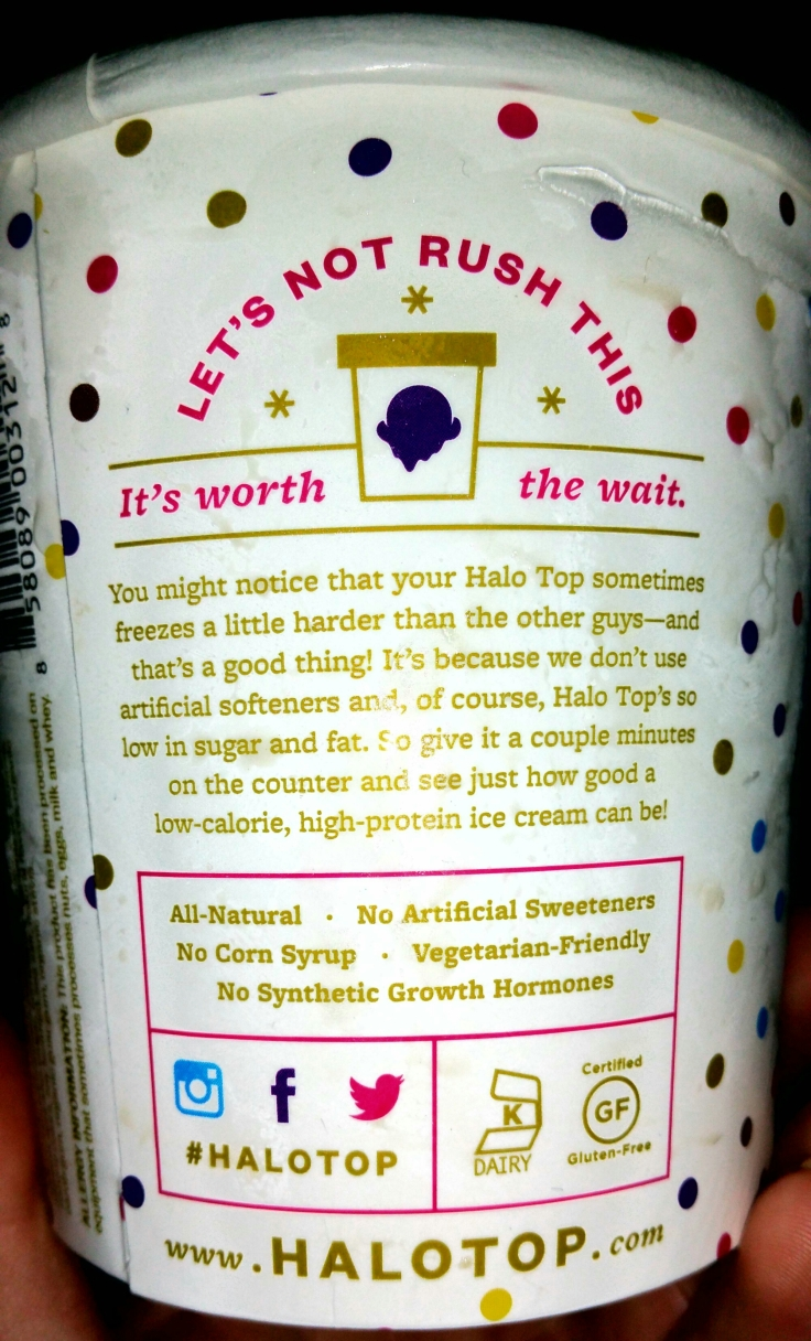 halo top birthday cake review