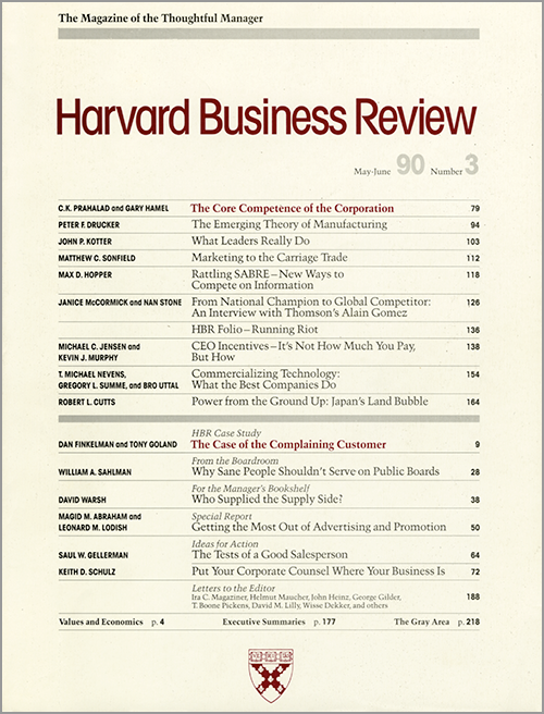 harvard business review on corporate ethics