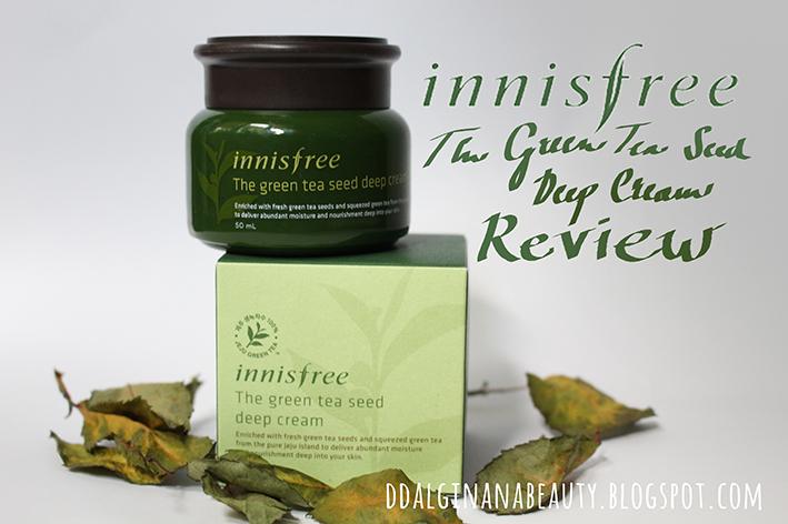 innisfree green tea deep cream review
