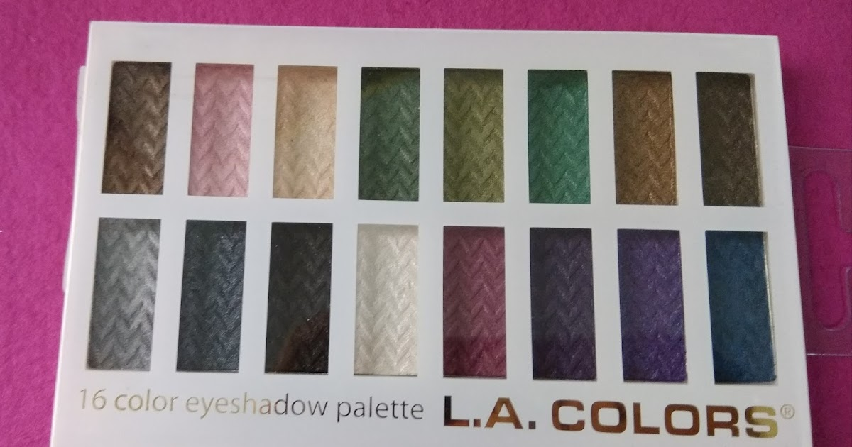 la colors eyeshadow palette review