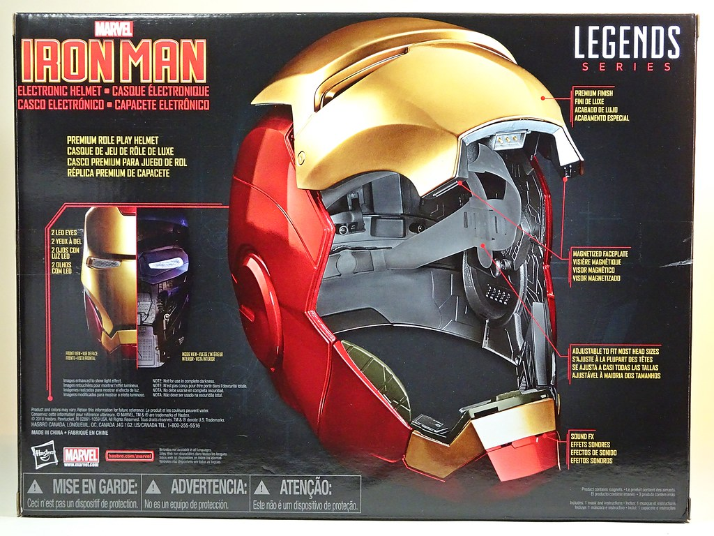 marvel legends iron man electronic helmet review