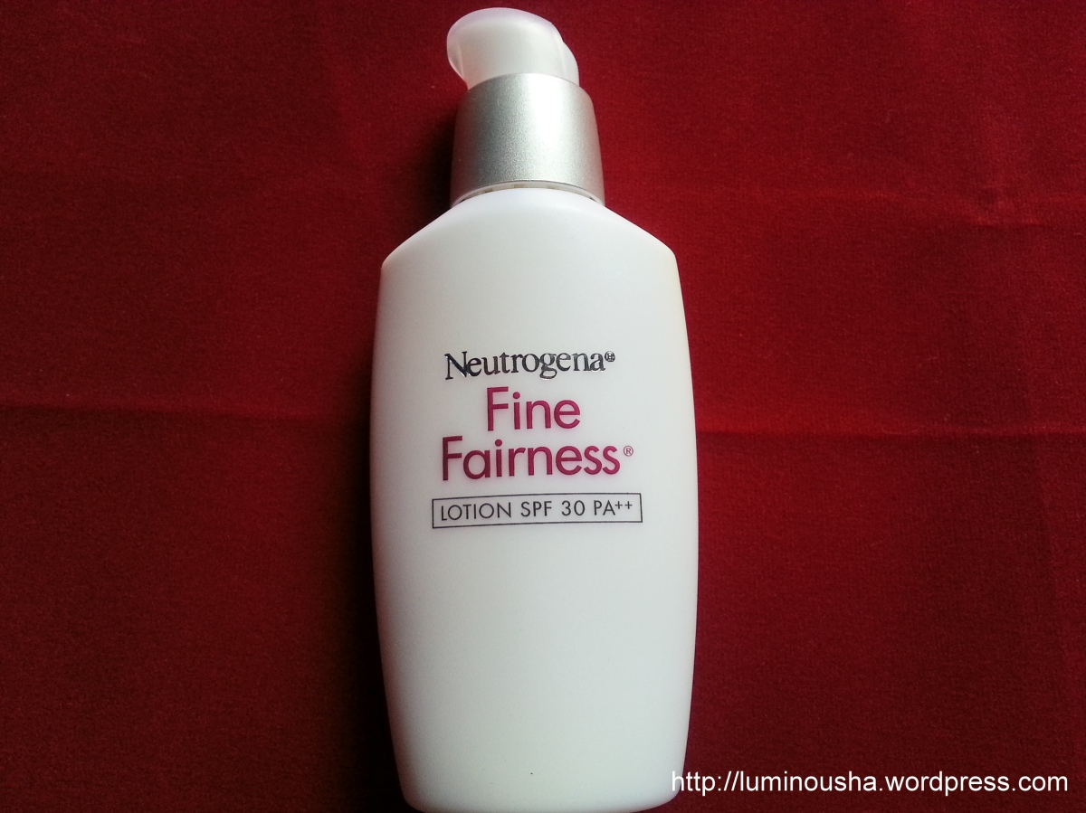 neutrogena fine fairness gel cream review