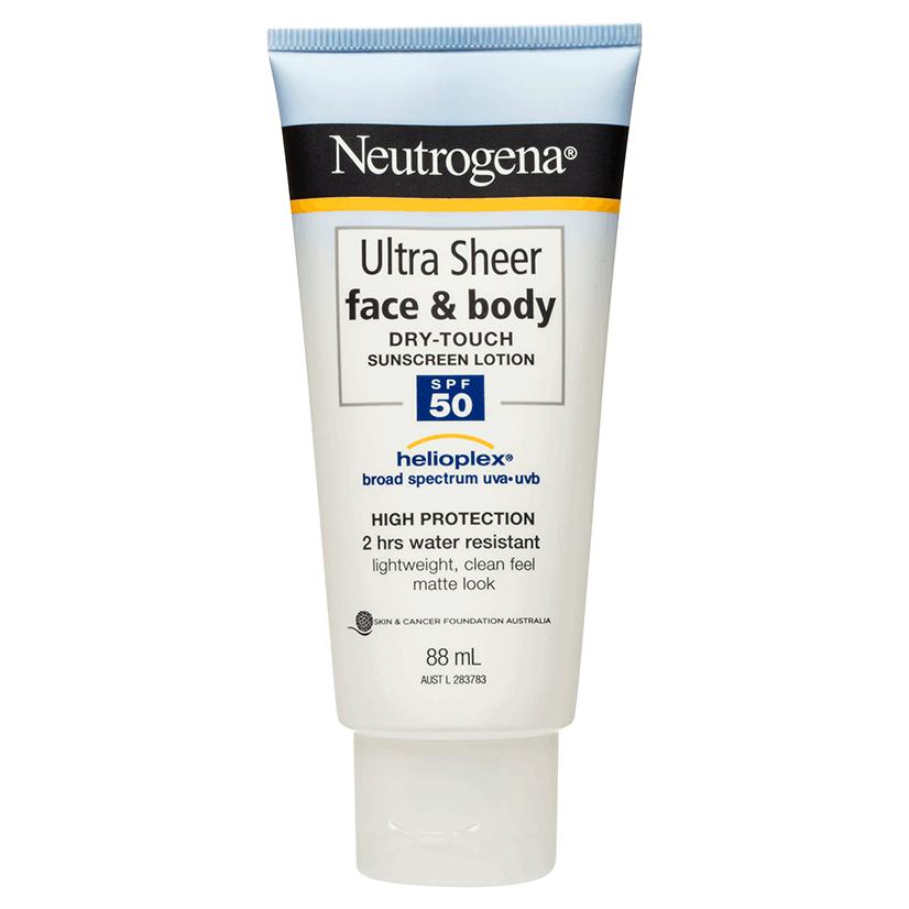 neutrogena ultra sheer fluid spf 50 review
