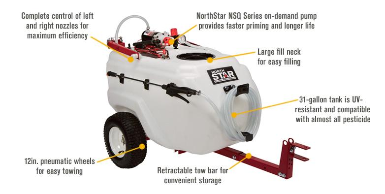 northstar tow behind sprayer reviews