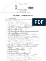 philippine science high school entrance exam reviewer