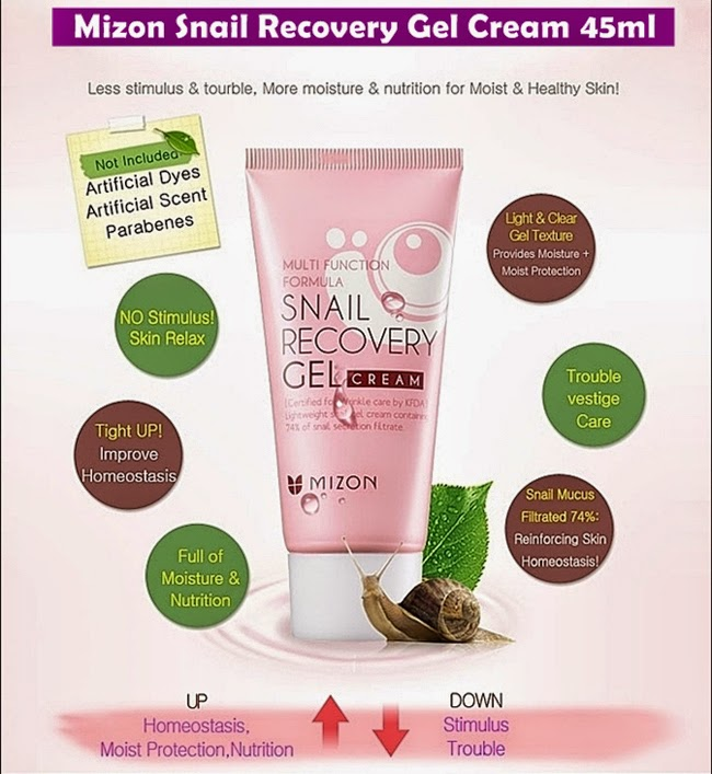 snail recovery gel cream review