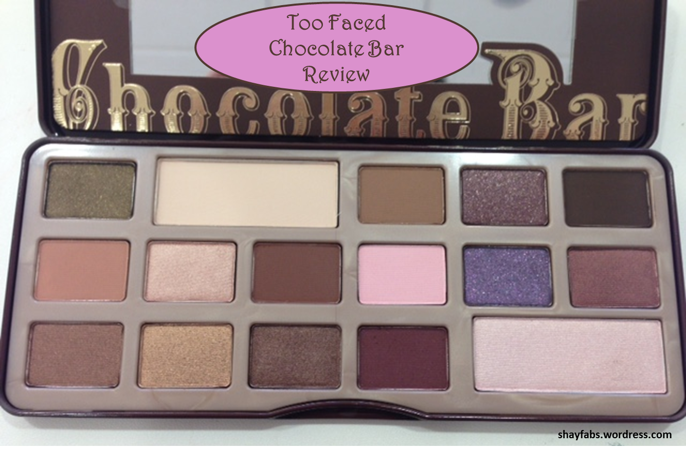 too faced the chocolate bar eye palette review